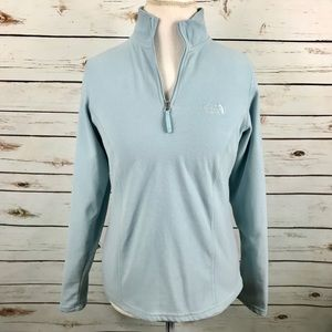 The North Face Blue Fleece Pullover 1/4 Zip Jacket